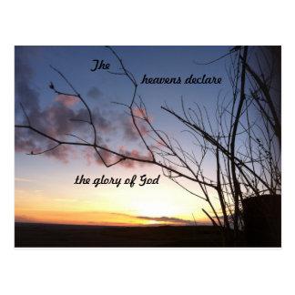 Carte postale d'écriture sainte