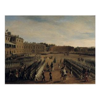 Carte Postale Défilé à l'heure d'empereur Paul I 1847