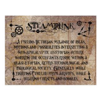 Carte Postale Définition de Steampunk