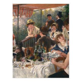 Carte Postale Déjeuner du cru de partie de canotage - Renoir
