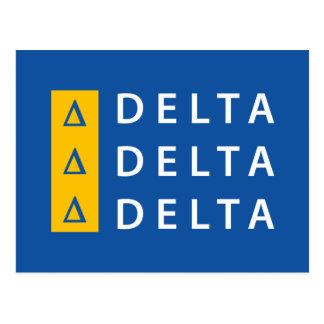 Carte Postale Delta | de delta de delta empilé