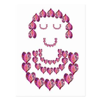 Carte Postale Demoiselle de honneur : Amoureux par les pétales