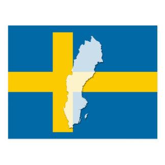Carte postale d'ensemble de carte de drapeau de la