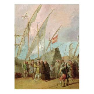 Carte Postale Départ de Christophe Colomb à Palos