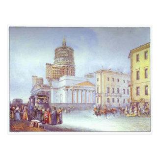 Carte Postale Départ d'un omnibus au carré de St Isaac