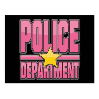 Carte Postale Département de Police rose de lustre