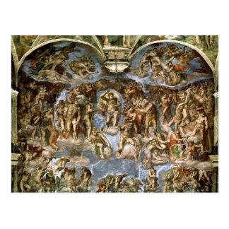 Carte Postale Dernier jugement, de la chapelle de Sistine,