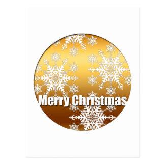 Carte postale des flocons de neige V de Joyeux