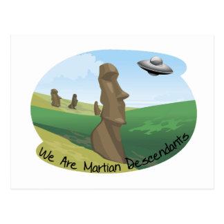 Carte Postale Descendants martiens