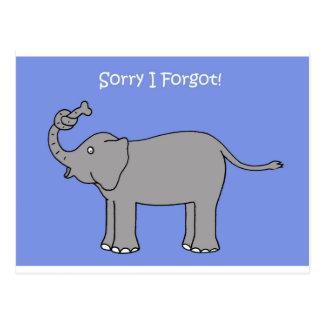 Carte Postale Désolé j'ai oublié