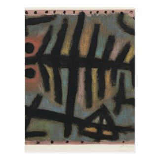 Carte Postale Désordre des poissons par Paul Klee