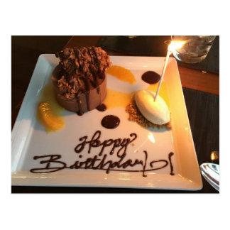 Carte Postale Dessert de joyeux anniversaire