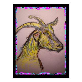 Carte Postale dessin de chèvre
