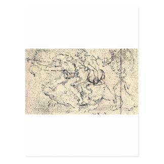 Carte Postale Dessin par Leonardo da Vinci
