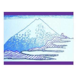 Carte Postale Dessinant en encre de gel, peinture de Hokusai