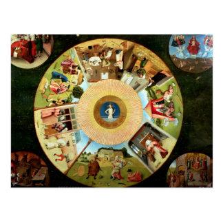 Carte Postale Dessus de table des sept péchés mortels