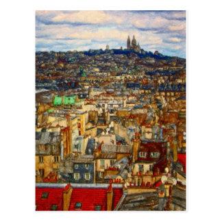 Carte Postale Dessus de toit de Paris par le Mac de Shawna