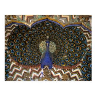 Carte Postale Détail architectural de porte de paon