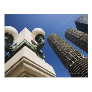 Carte Postale Détail de réverbère aux tours Chicago de ville de