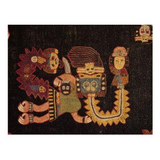 Carte Postale Détail de tissu d'enterrement, tribu de Paracas