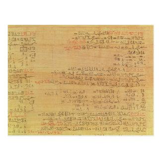 Carte Postale Détail du papyrus mathématique de Rhind