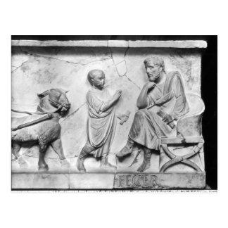 Carte Postale Détail du sarcophage de Cornélius