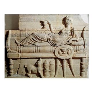 Carte Postale Détail d'un sarcophage