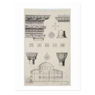 Carte Postale Détails en coupe et architecturaux de Kutciuk