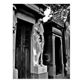 Carte Postale Deuil dans le cimetière