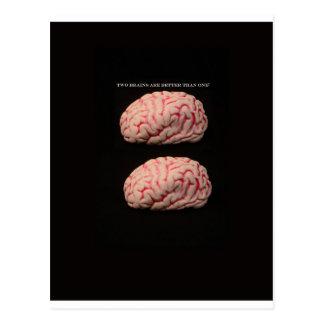 Carte Postale Deux cerveaux sont meilleurs qu'un