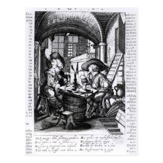 Carte Postale Deux jeunes nobles fumant, Pro-Tabagisme d'A