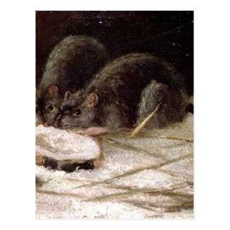 Carte Postale Deux rats par Vincent van Gogh
