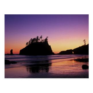 Carte Postale Deuxième plage au crépuscule, NP olympique, WA,