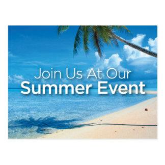 Carte postale d'événement d'été
