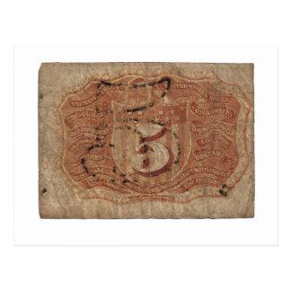 Carte Postale devise 5-Cent partielle