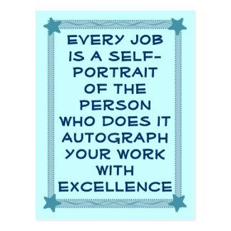 carte postale d'excellence