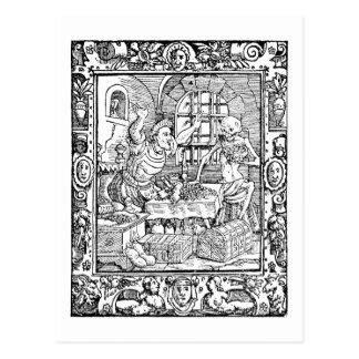 Carte postale d'histoire d'alchimie