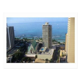 Carte postale d'horizon de Waikiki