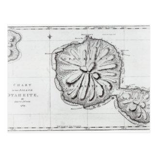 Carte Postale Diagramme de l'île Otaheite, 1769