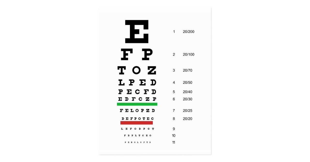 carte postale diagramme d u0026 39 oeil de herman snellen pour estimer