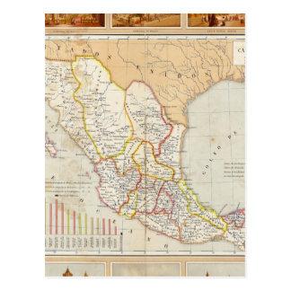 Carte Postale Diagramme religieux du Mexique