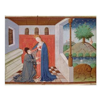 Carte Postale Dialogue entre Boethius et philosophie