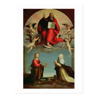 Carte Postale Dieu apparaissant à St Mary Magdalen et St Catheri