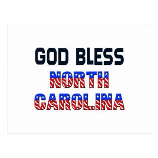 Carte Postale Dieu bénissent la Caroline du Nord