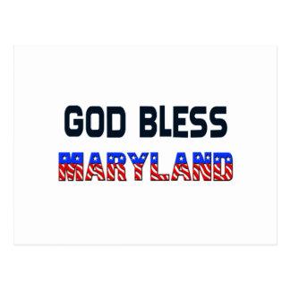 Carte Postale Dieu bénissent le Maryland