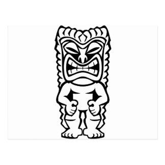 Carte Postale Dieu hawaïen de masque de Tiki