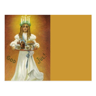 Carte Postale Dieu juillet !  Enfant de Lucia avec des festins