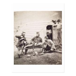 Carte Postale Difficultés dans le camp (colonel Lowe et