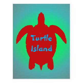 Carte postale d'ÎLE de TORTUE