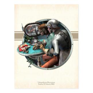 Carte postale d'illustration de télémédecine